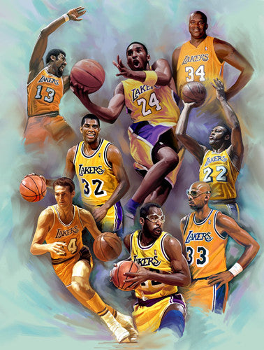 "LA Lakers ""Legends"" by Wishum Gregory Premium Poster Print (L.E. Giclee)"