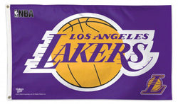 LA Lakers NBA Basketball Official 3'x5' Deluxe-Edition Team Flag - Wincraft Inc.
