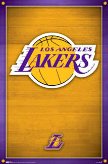 L.A. Lakers Official NBA Basketball Team Logo Poster - Costacos Sports