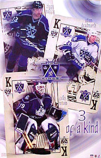"L.A. Kings ""Three of a Kind"" Poster (Zigmund Palffy, Deadmarsh, Felix Potvin) - Starline 2001"
