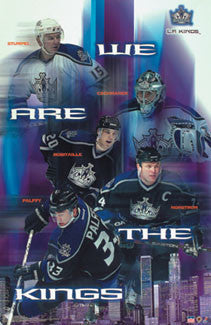 "L.A. Kings ""We Are The Kings"" Poster (Robitaille, Norstrom, Palffy) - Starline 2003"