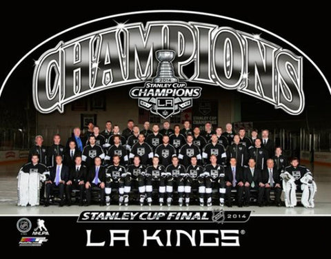 L.A. Kings Stanley Cup 2014 Championship Team Portrait Commemorative Poster Print - Photofile