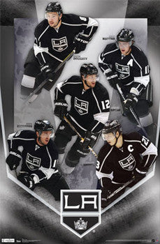 "LA Kings ""Fantastic Five"" Poster (Doughty, Kopitar, Brown, Gagne, Richards) - Costacos Sports"