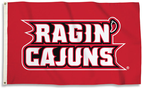 Louisiana-Lafayette Ragin' Cajuns Official NCAA Team 3'x5' FLAG - BSI Products Inc.