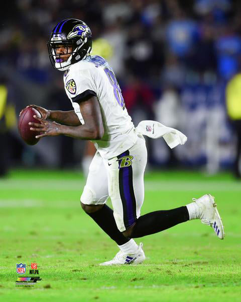 "Lamar Jackson ""Roll Out"" Baltimore Ravens Premium Poster Print - Photofile 16x20"