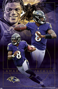 "Lamar Jackson ""Dynamo"" Baltimore Ravens NFL Football Action Poster - Trends International"