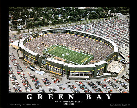 "Green Bay Packers ""Old Lambeau Field"" (1996) Poster Print - Aerial Views Inc."