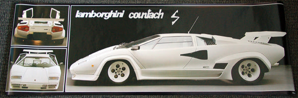 LAST ONE - Lamborghini Countach HUGE Wall-Sized Autophile Profile Poster - Verkerke NL 1984