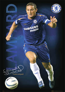 "Frank Lampard ""Signature Series"" Chelsea FC Poster - GB Posters 2005"