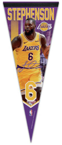 Lance Stephenson LA Lakers Signature Series Premium Felt Collector's Pennant - Wincraft 2019