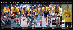 Lance Armstrong Seven-Time Tour de France Champion Wall-Sized Poster Print