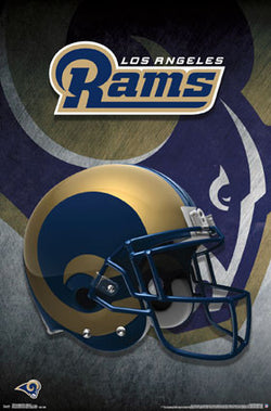 Los Angeles Rams NFL Football Official Team Helmet Logo Poster - Trends International