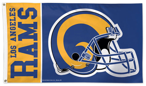 Los Angeles Rams Classic-Style Giant NFL Football Deluxe 3'x5' FLAG - Wincraft