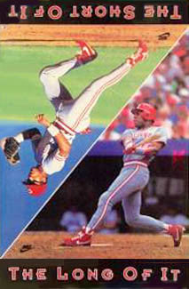 "Barry Larkin ""Long/Short"" Cincinnati Reds Poster - Nike 1990"