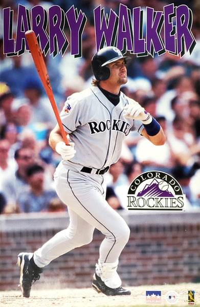 "Larry Walker ""Slugger"" Colorado Rockies MLB Baseball Action Poster - Starline 1998"