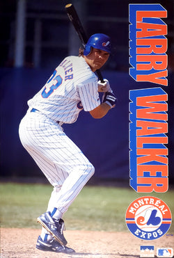 "Larry Walker ""Slugger"" Montreal Expos MLB Baseball Action Poster - Starline Inc. 1993"