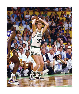 "Larry Bird ""Finals Classic"" (c.1987) Giclee-on-Canvas Print - Photofile"