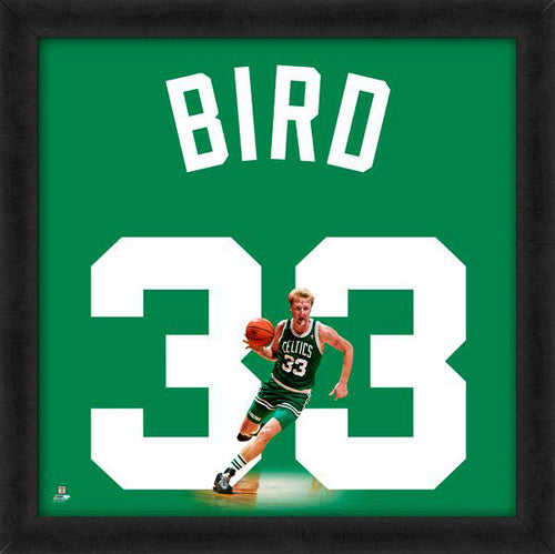 "Larry Bird ""Number 33"" Boston Celtics NBA FRAMED 20x20 UNIFRAME PRINT - Photofile"