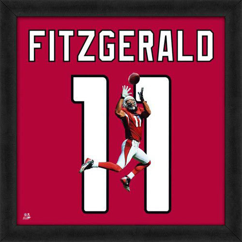 "Larry Fitzgerald ""Number 11"" Arizona Cardinals NFL FRAMED 20x20 UNIFRAME PRINT - Photofile"