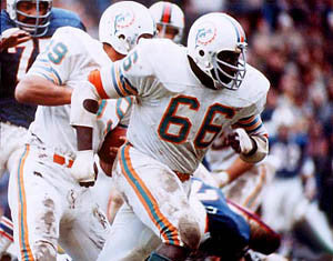 "Larry Little ""Lead Block"" (c.1972) Miami Dolphins Premium Poster Print - Photofile Inc."