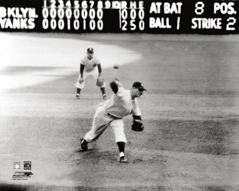 "Don Larsen ""The Perfect Pitch"" (1956) New York Yankees World Series Premium Poster - Photofile Inc."