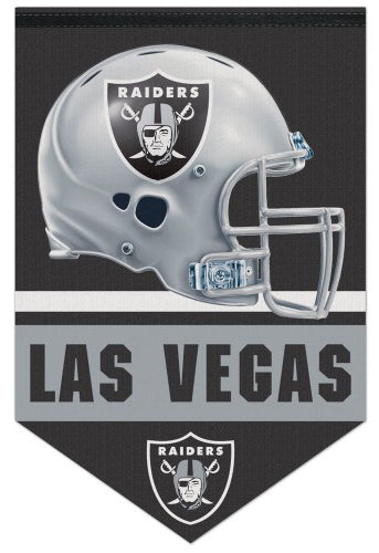 Las Vegas Raiders NFL Football Team Premium Felt 17x26 Wall Banner - Wincraft Inc.