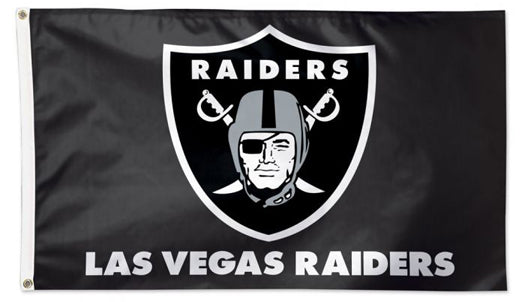 Las Vegas Raiders Official NFL Football Deluxe-Edition Team 3'x5' Flag - Wincraft Inc.