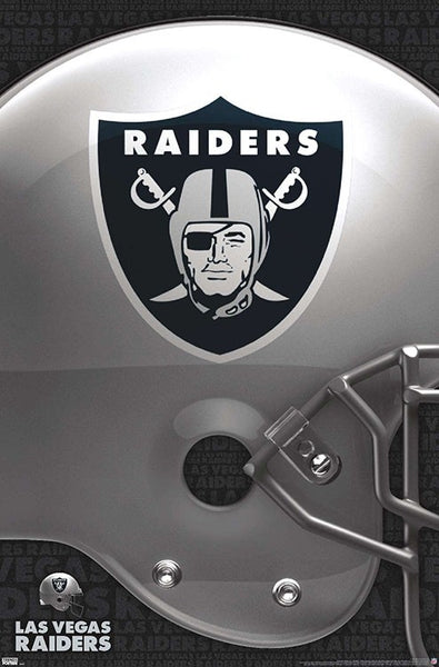 Las Vegas Raiders Official NFL Football Team Logo Poster - Trends International 2020