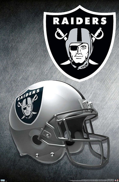 Las Vegas Raiders Official NFL Football Team Theme Helmet Logo Poster - Trends International