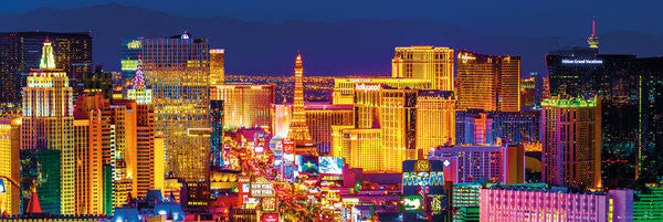 Las Vegas Strip Skyline at Night HUGE Wall-Sized Poster - GB Eye