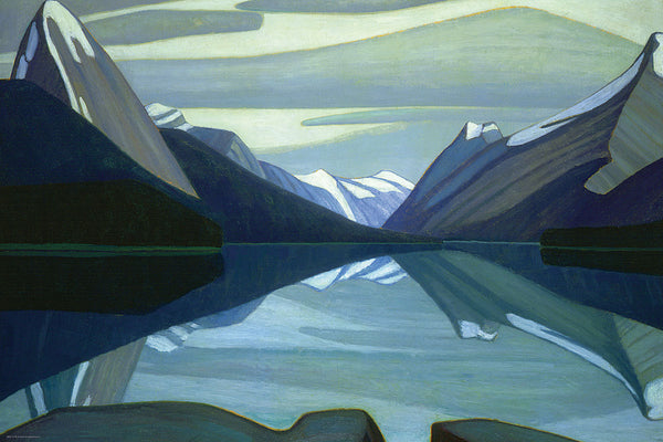 Maligne Lake, Jasper Park Canadian Wilderness Art (1924) by Lawren Harris Group of Seven Poster Print - Eurographics Inc.