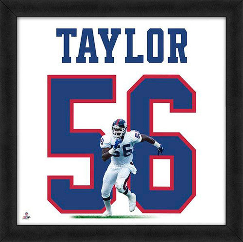 "Lawrence Taylor ""Number 56"" New York Giants NFL FRAMED 20x20 UNIFRAME PRINT - Photofile"