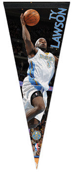 "Ty Lawson ""Action"" Premium Felt Collector's Pennant LE /2010"