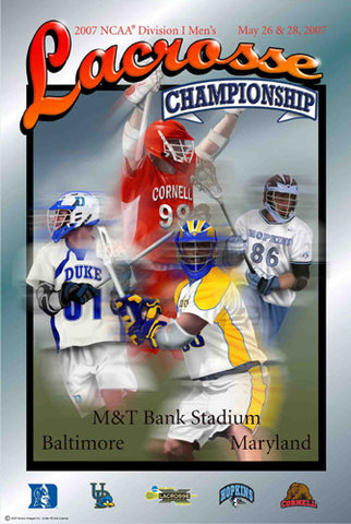 NCAA Lacrosse Championships 2007 Official Event Poster - Action Images Inc.