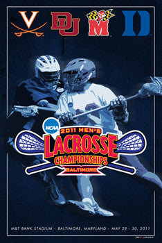 NCAA Lacrosse Championships 2011 Official Event Poster - ProGraphs Inc.