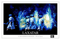 "Lacrosse ""LAXATAR"" Poster Print - Kenneth Delgatto 2010"