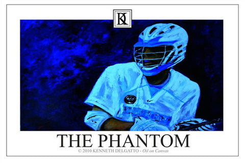 "Lacrosse ""The Phantom"" Poster Print - Kenneth Delgatto 2010"