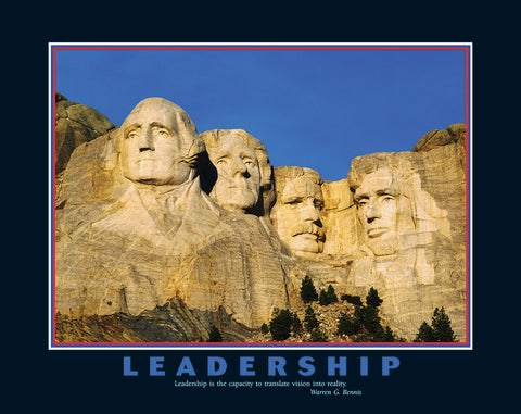 "Mount Rushmore ""Leadership"" Inspirational Motivational Americana Poster - Eurographics Inc."