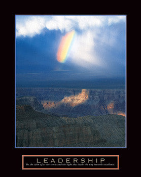 "Rainbow in Canyon ""Leadership"" Motivational Poster - Front Line"