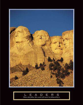 "Mount Rushmore ""Leaders"" Motivational Poster - Front Line"