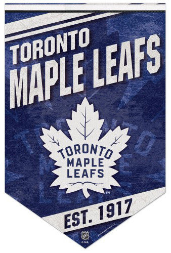 "Toronto Maple Leafs ""Est. 1917"" Official NHL Hockey Team Premium Felt Wall Banner - Wincraft"