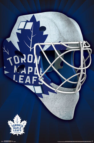 "Toronto Maple Leafs ""Mask"" NHL Hockey Official Team Logo Theme Wall POSTER - Trends 2016"