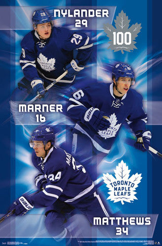 "Toronto Maple Leafs ""Young Guns"" (Nylander, Marner, Matthews) Poster - Trends 2016-17"