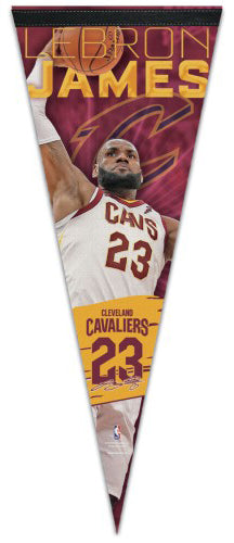 "LeBron James ""Super-Slam"" (2018) Cleveland Cavaliers Premium Felt Collector's Pennant - Wincraft"