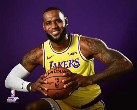 "LeBron James ""Super Smile"" (2018) Los Angeles Lakers Premium NBA Poster Print - Photofile 16x20"