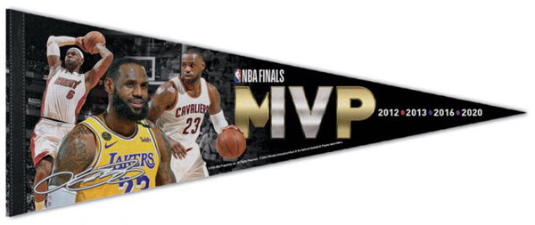 Lebron James NBA Finals MVP (Heat, Cavaliers, Lakers) Official Premium Felt Commemorative Pennant - Wincraft Inc.