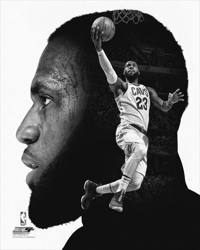 "LeBron James ""Pro File"" Cleveland Cavaliers Premium Black-and-White Classic Poster Print - Photofile Inc."