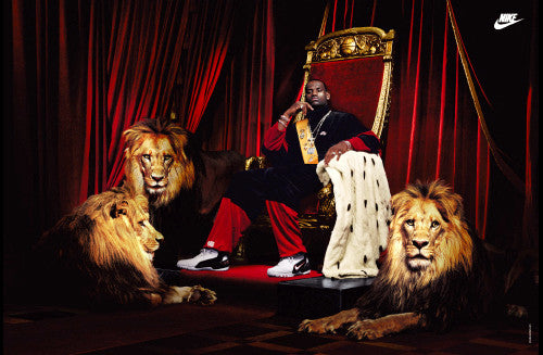 "LeBron James ""King James"" Original Nike Poster (2004) - Nike Inc."