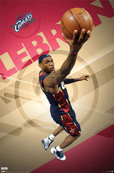 "LeBron James ""In the Zone"" Cleveland Cavaliers Poster - Costacos 2009"
