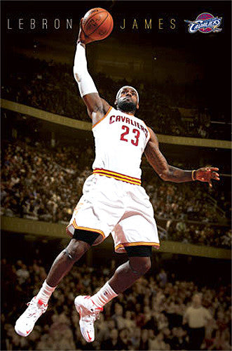 "LeBron James ""Soaring"" Cleveland Cavaliers NBA Action Poster - Costacos 2015"